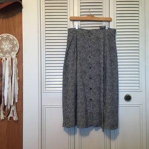 Dresses & Skirts - Vintage Polka Dog High Waist Skirt